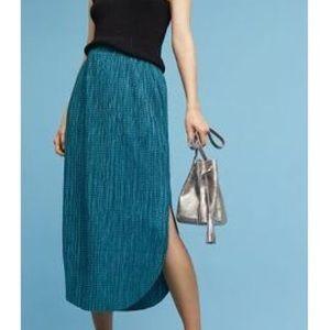 Turquoise Sabina Musayev Anthro Odell midi skirt